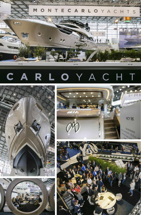MCY 96 at Boot Dusseldorf, Monte Carlo Yachts Dealer